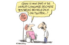 Dick Quax became the inspiration for a new word after a Twitter spat. Cartoon / Rod Emmerson