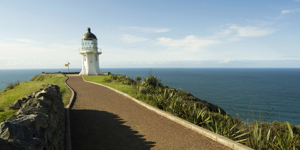 The spot where two oceans meet at Cape Reinga in Northland is renowned for its spiritual atmosphere. Photo / Supplied