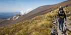 Mt Tongariro's steam vents remind walkers that this volcano is still active. Photo / Greg Bowker