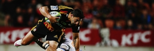 Bryce Heem was exemplary for the Chiefs last weekend and would have been boosted by his performance after  receiving a late call to replace James Lowe. Photo / Getty Images