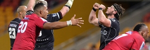 Sharks Marcell Coetzee and Renaldo Bothma celebrate victory. Photo / Getty Images