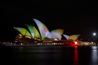 The Sydney Opera House is seen illuminated as part of the Vivid Sydney Festival. Photo / Getty Images