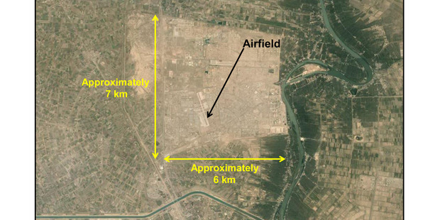 The Taji Military Complex near Baghdad, Iraq where the New Zealand and Australian training contingent are sited. Photo supplied by NZDF