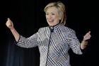 Hillary Clinton reacts. Photo / AP