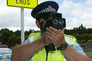 Hand-held speed cameras need to be calibrated and tested before use to ensure they accurately record speed and distance. Photo / Ron Burgin