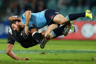 Rob Horne and the Waratahs have taken down the Sharks in their Super Rugby clash last night. Photo / Getty Images