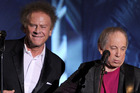 Art Garfunkel and Paul Simon of Simon & Garfunkel perform together in 2010. Photo/2010