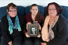 Daughters Gail Townsend (left), and Erin O'Neil, and grand-daughter Mary O'Neil remember Detective Chief Inspector Bruce Hutton as an honest man. Photo / Mark Mitchell