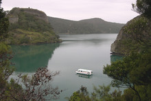 A houseboat is just like a big caravan afloat and a lovely way to see Whangaroa Harbour with its many isolated bays and peaceful anchorages. Photo / Jim Eagles