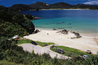 Maitai Bay, a beautiful scoop of beach on the Karikari Peninsula, is well worth the dusty drive. Photo / Supplied