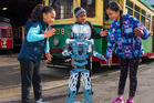 Year 5 & 6 Students from Favona School enjoy robot dancing with Meccanoid at MOTAT. Photo / supplied