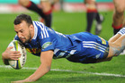 Dillyn Leyds of the Stormers scores his second try in his side's 31-15 win over the Melbourne Rebels. Photo / Getty Images