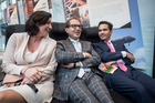 Simon Bridges (right) with  German State Secretary  Dorothee Bar and Federal Minister Alexander Dobrindt.