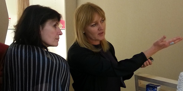 Bernadette Casey (right), creative director of The Formary, pictured with Textifood curator Caroline David (left).