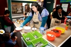 Kathleen Parnell helps with breakfasts at Tawhero School in Whanganui. Photo / Bevan Conley