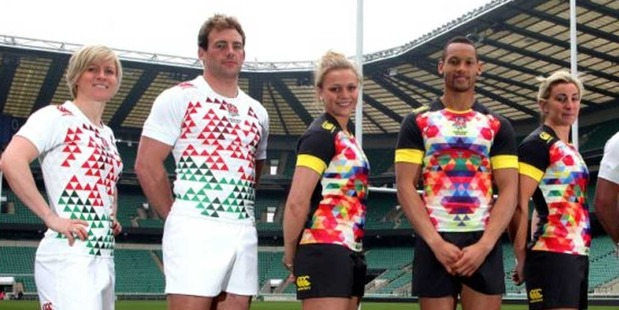English fans were blinded by designs for the sevens jerseys. Photo / Twitter.