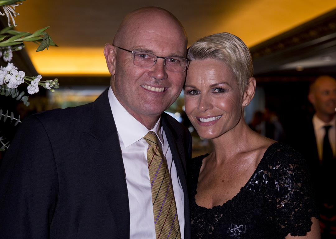 Martin Crowe and wife Lorraine Downes at the 2015 Cricket Awards. Photo / Dean Purcell