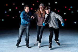 The Aotea Square ice rink is back for six weeks.