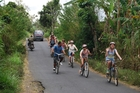 Cycling through Bali is a great way to experience the lush countryside. Photo / Supplied