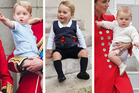 Prince George in a selection of his finest threads. Photos / Getty Images