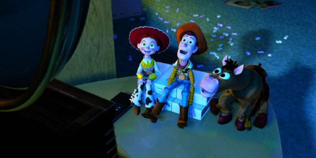 A scene from the movie Toy Story 2.