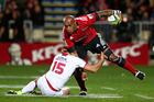 Crusaders wing Nemani Nadolo made the most clean breaks in Super Rugby. Photo / Getty Images
