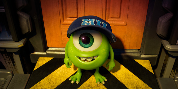 A scene from the movie Monsters University.