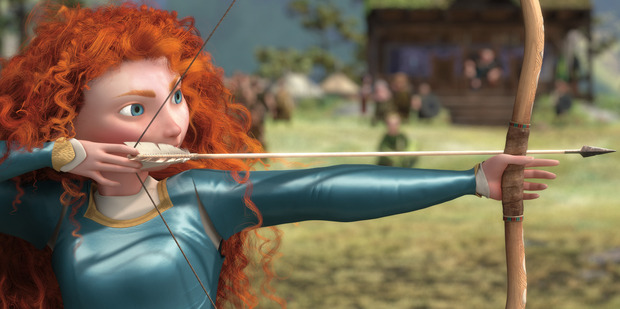 A scene from the movie Brave.