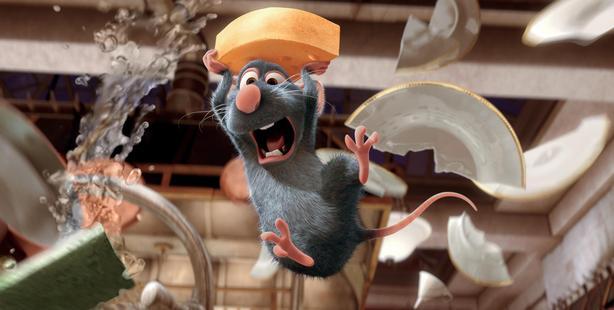 A scene from the movie Ratatouille.