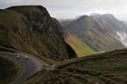 Hardy cyclists ride down Te Mata Peak. Photo / NZME.