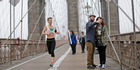 The Brooklyn bridge is a great spot for jogging and taking selfies alike. Photo / AP