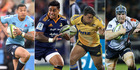 The Waratahs, Highlanders, Hurricanes and Brumbies are all gunning for spots in the Super Rugby final. Photo / NZME and Getty