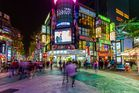 Ximending is vibrant at night. Photo / 123RF