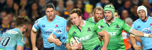The Waratahs were chopped from their titled perch by the marauding Highlanders. Photo / Getty Images