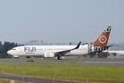A Fiji Airways Boeing 737-800 on the runway. Photo / Supplied