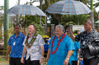 The double-tax agreement comes on the day of the All Blacks' first test match on Samoan soil. Photo / Mark Mitchell