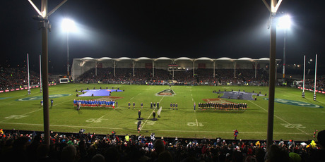 AMI Stadium is unsuitable to host big events in its current capacity. Photo / Getty