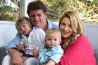 Queeny Penhall and her partner, Damian Young, with 4-year old Samson and 15 month-old Elijah. Photo / Brett Phibbs