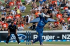 Kumar Sangakkara sent three balls into the crowd. Photo / Christine Cornege