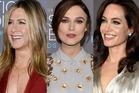 Jennifer Aniston, Keira Knightley, Angelina Jolie and Emily Blunt at the Critics' Choice Movie Awards in Los Angeles. Photos / Getty Images