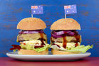 The classic Aussie burger with an egg and beetroot is also common in NZ. Photo / 123RF