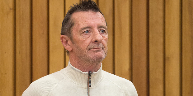 Loading Former AC/DC drummer Phill Rudd appears in the Tauranga District Court after being arrested over the weekend. Photo / Alan Gibson, NZ Herald