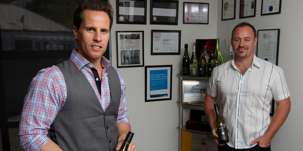 Crowdfunding succeeded for Invivo Wines co-founders Tim Lightbourne (left) and Rob Cameron. Photo / Steven McNicholl