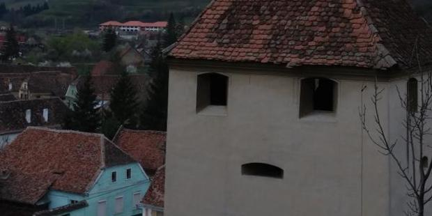 A pensive tower. Photo / twitter.com/FacesPics