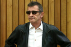 Phil Rudd appears in the Tauranga District Court this morning. Photo / Alan Gibson