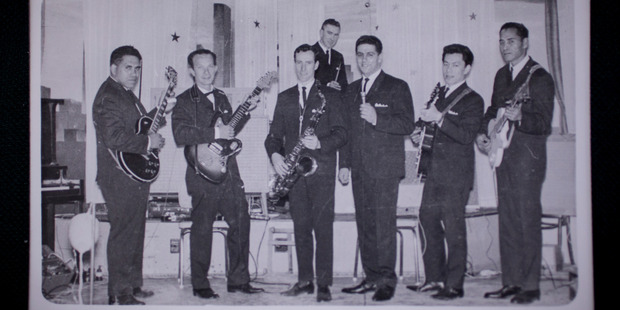 The Bill Sevesi Group from 1959 with Sevesi second left (supplied)