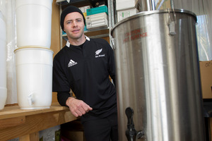 Carl Skelton says brewing is simple and saves megabucks. KELLIE BLIZARD