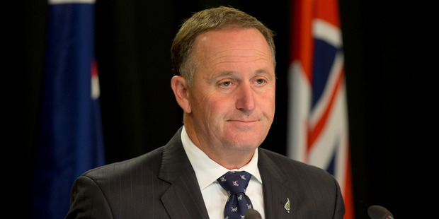 Prime Minister John Key during a post-Cabinet press conference at the Beehive. Photo / Mark Mitchell