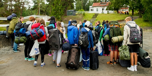 Newcomers arrive yesterday at Utoya where right-wing extremist Breivik killed indiscriminately four years ago.  Photo / AP