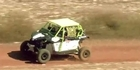 Raw: Racecar rally kicks up dust through Brazil's outback